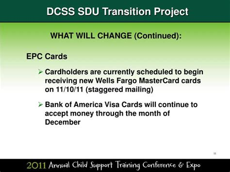 wells fargo help desk number ppt dcss sdu transition project powerpoint presentation