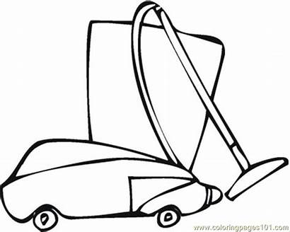 Vacuum Coloring Pages Cleaner Flat Screen Printable