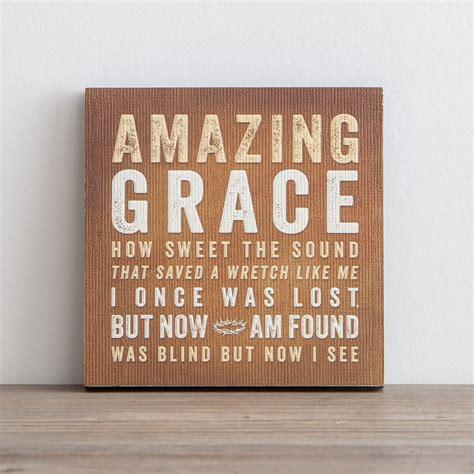 Lyrics For Life  Amazing Grace  Wall Art Dayspring