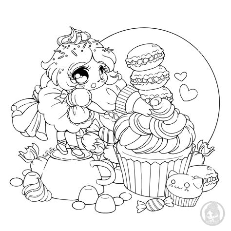 Frosting fairy Cupcakes and cakes Coloring Pages for