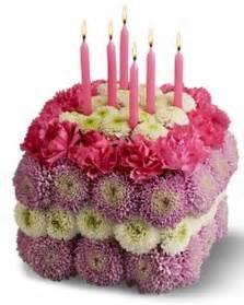 Fresh Flower Birthday Cake