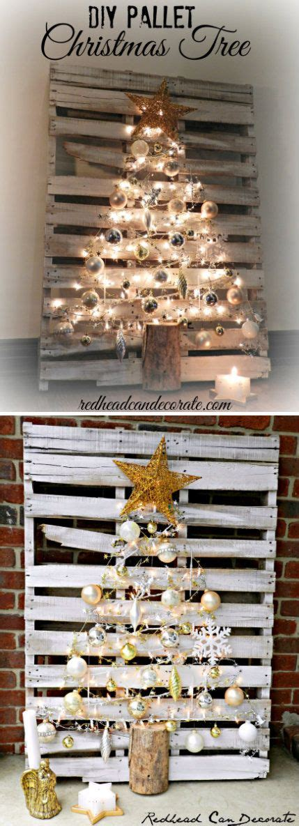 awesome diy christmas decorations   pallets hative