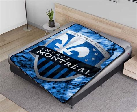 Montreal Impact MLS Soccer Team Fleece Blanket Quilt ...