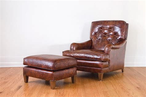 leather club chair ottoman homestead seattle