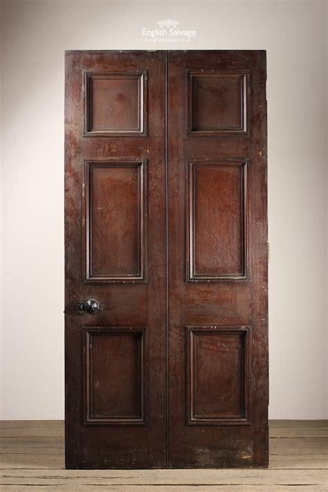 antique oak  panel moulded wide door