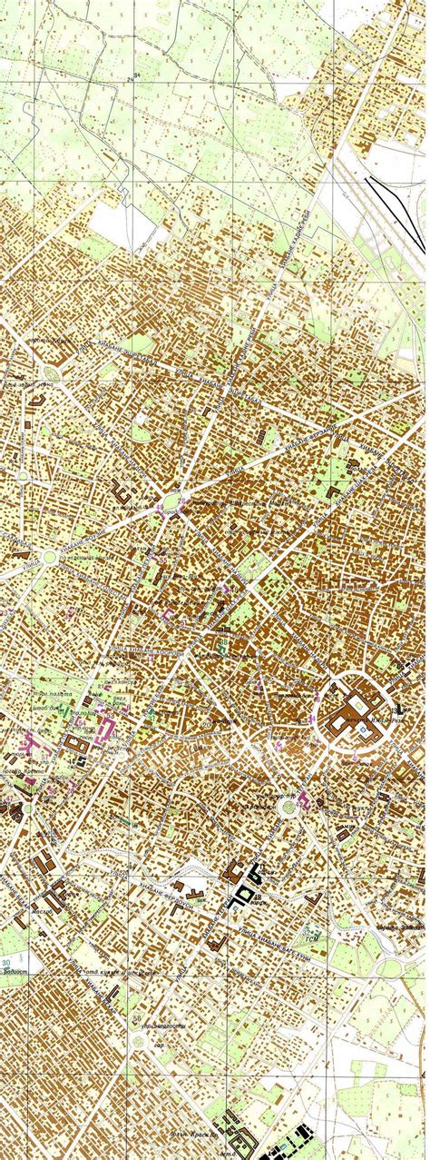 Mapa Topográfico de Mashhad Occidental, Irán 1971