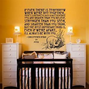 155 best images about pooh corner nursery on pinterest With kitchen cabinets lowes with winnie the pooh quotes wall art