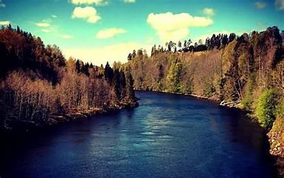 Sweden Landscape Trees Sundsvall River Water Mountain
