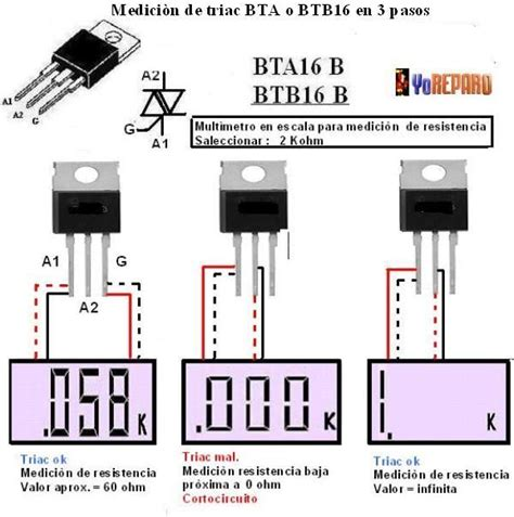 solucionado triac me marca baja impedancia electr 243 nica en general yoreparo curso