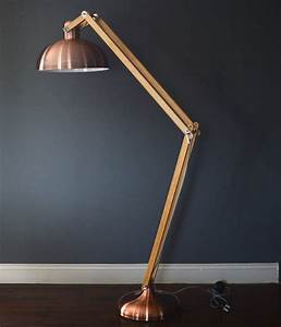 copper and wood floor lamp by the forest co With copper wood floor lamp