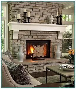 How, To, Decorate, A, Stone, Fireplace, Mantel