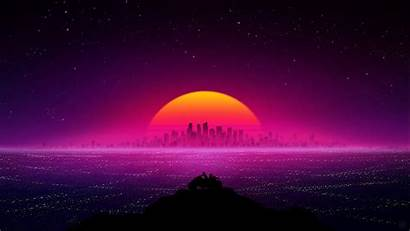 Retro Wallpapers Laptop Backgrounds Showtime 4k Sunset