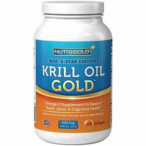 Buy NutriGold Krill Oil Omega-3 Supplement Krill GOLD 500 ...
