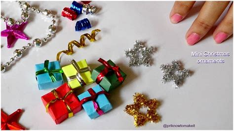 christmas ornaments  easy mini christmas ornaments diy