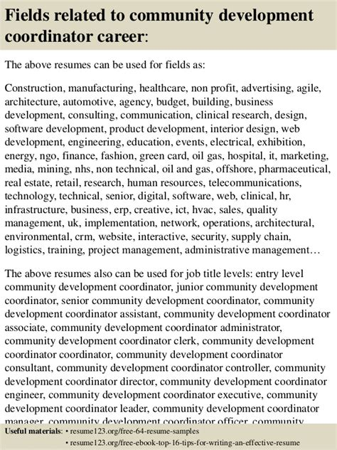 Community Development Coordinator Resume by Top 8 Community Development Coordinator Resume Sles