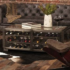 hermitage wine storage coffee table so that39s cool With wine storage coffee table