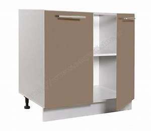 Meuble De Cuisine Bas Pas Cher : meuble bas cuisine 2 portes 80cm pas cher achat easy cuisine ~ Melissatoandfro.com Idées de Décoration