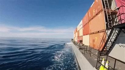 Ship Cruise Cargo Gifs Animated Sea Giphy