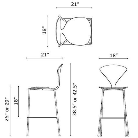 norman cherner counter bar stool chrome base in white