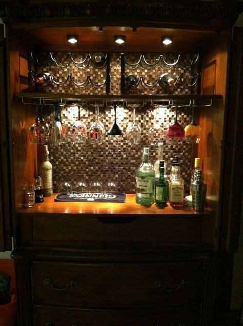 Home Bar Makeover by How To Turn An Armoire Into A Bar Search