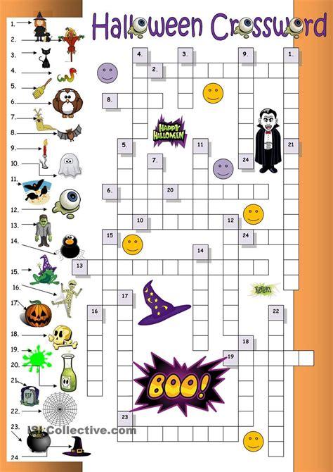 halloween crossword  beginners  images
