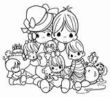 Precious Moments Coloring Pages sketch template