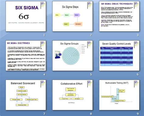 sigma guide  kpis  page  guide