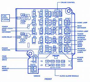 Chevrolet Silverado 1991 Fuse Box  Block Circuit Breaker Diagram