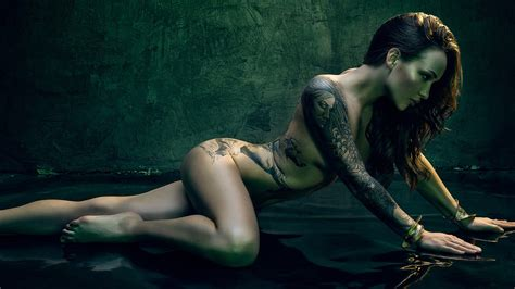 Exotic Nude Beauty Artistic Photo Of A Beautiful Tattooed