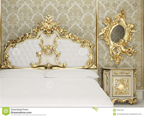 baroque bedroom suite  royal interior stock illustration