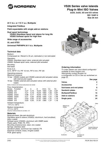 XSz 8 XSz50 - Norgren - PDF Catalogs   Technical