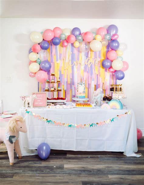 deco anniversaire licorne decoration anniversaire licorne pastel