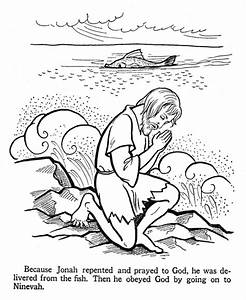 Jonah And The Whale Coloring Page Coloring Home