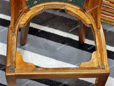 refaire assise de chaise bricolage restauration d une chaise en bois refaire assise dossier et pose du tissu
