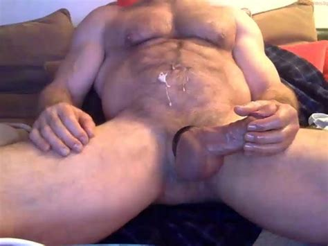 Hairy Hung Muscle Daddy Cums Gay Muscles Porn 60
