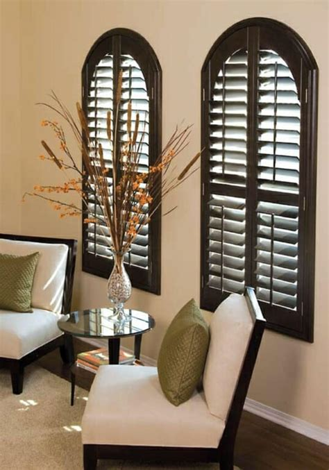 custom arched shutters plantation shutters  arched
