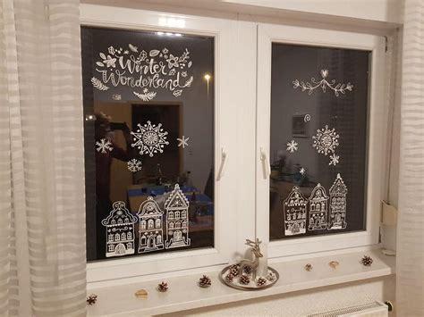 Weihnachtsdeko Fenster Malen by Diy Fensterdeko Mit Kreidemarkern Arianebrand
