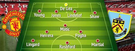 How Manchester United should line up vs Burnley in Premier ...