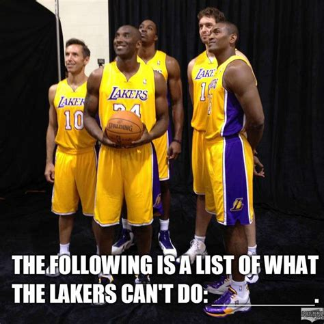 Lakers Memes - what the lakers cant do meme