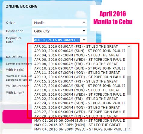 2go Boat Schedule by 2go Travel April 2016 Schedule And Fare Sles Cebu To