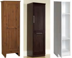 Tall Narrow Corner Linen Cabinet by Small Tall Cabinets With Doors
