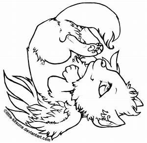 Winged_Wolf_Cub___Lineart_by_little_kitsune.jpg (635×616 ...