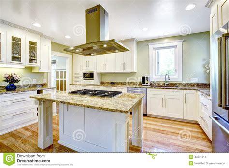 fourneau de cuisine île de cuisine avec le fourneau intégré le dessus de
