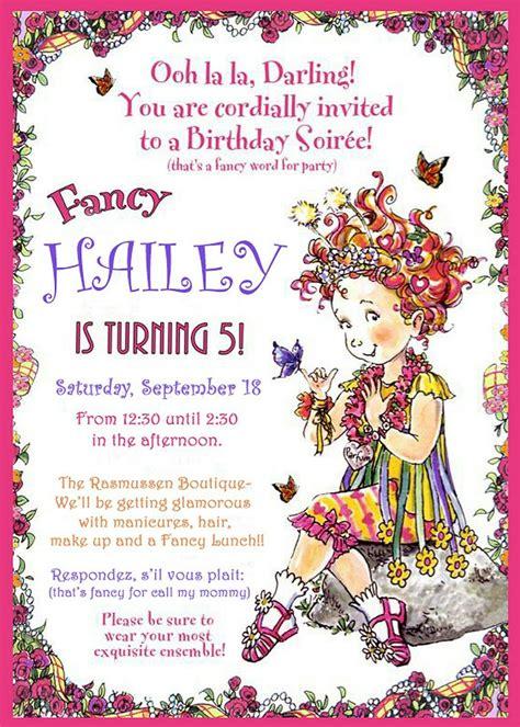 Fancy Nancy invitation Fancy Nancy Party Fancy nancy