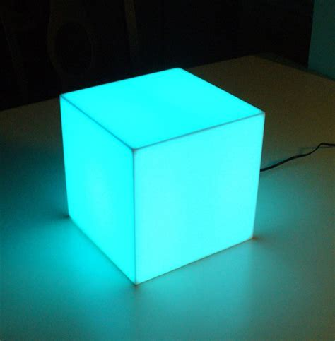 LED Changing Color Cubes   Made of Solid Acrylic   Display