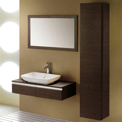 wall mount bathroom sink cabinet 40 quot yannis white wall mount vessel sink vanity with side