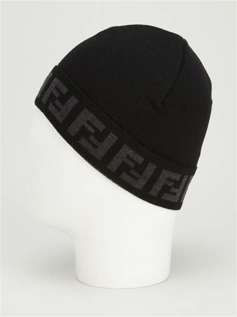 fendi monogram beanie  black  men lyst