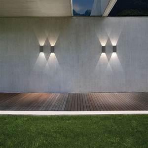 Astro oslo black outdoor led wall light at uk