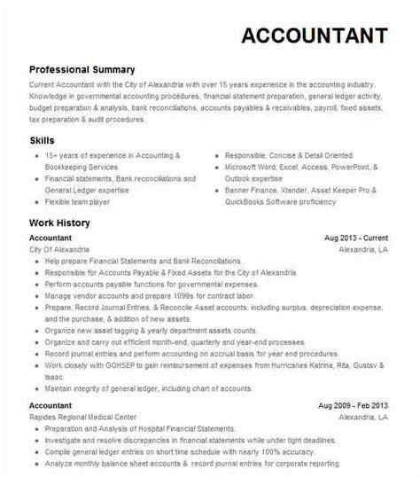 eye grabbing accountant resume sles livecareer