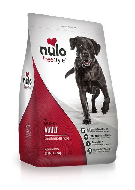 nulo adult dog food grain  lamb chickpeas recipe